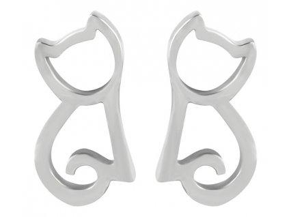 Troli Moderní ocelové náušnice Kočka