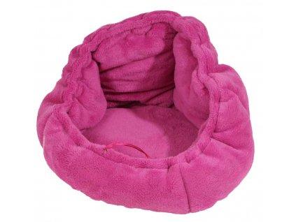 Stahovací pelíšek Adriana 40 cm tmavě růžový