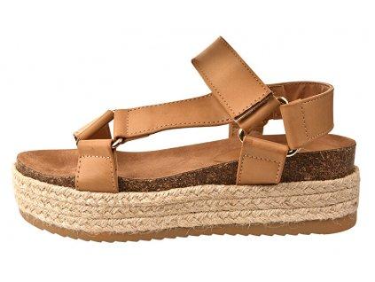 Verde Dámské sandály 28-3149 beige