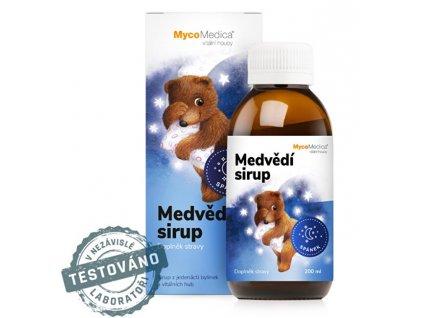 MycoMedica Medvědí sirup 200 ml + pastelky ZDARMA