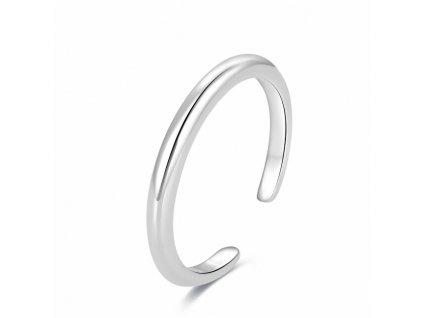 Beneto Minimalistický stříbrný prsten na nohu AGGF494