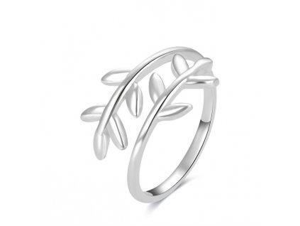 Beneto Stříbrný prsten na nohu s lístečky AGGF496