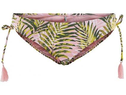 Pieces Dámské plavkové kalhotky PCNIA 17101665 Candy Pink LEAF PRINT