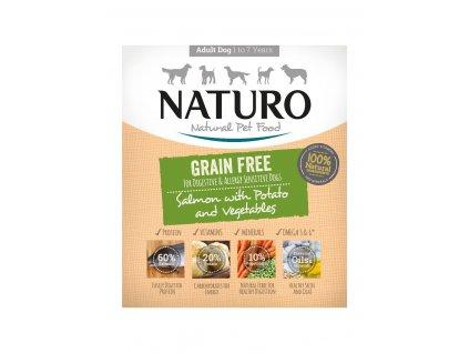 Naturo Dog Grain Free Salmon & Potato with Vegetable 400 g