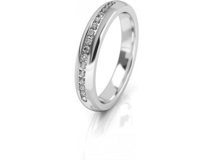 Art Diamond Dámský snubní prsten z bílého zlata se zirkony AUG277