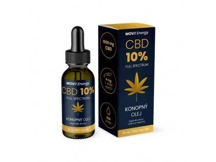 MOVit Energy CBD 10% Full Spectrum konopný olej 10 ml