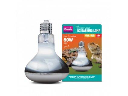 Arcadia D3 Basking Lamp 80W  + Dárek dle vlastního výběru