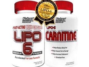 Lipo 6 White 120 cps + Lipo 6 Carnitine 60cps