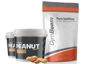 gymbeam isowhey 2500 g + peanut butter 1000g